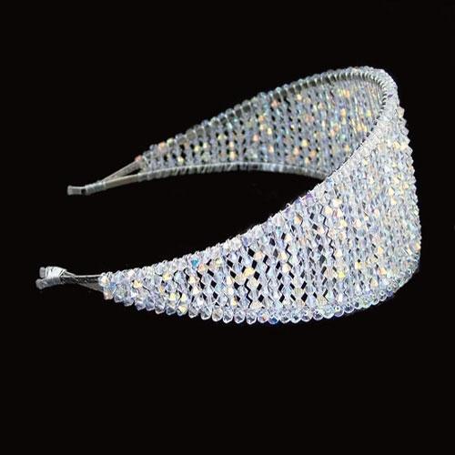 Ellie K Priscilla Wide Crystal Headband
