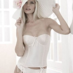 Bjem Silk Satin Bridal Basque - Ivory