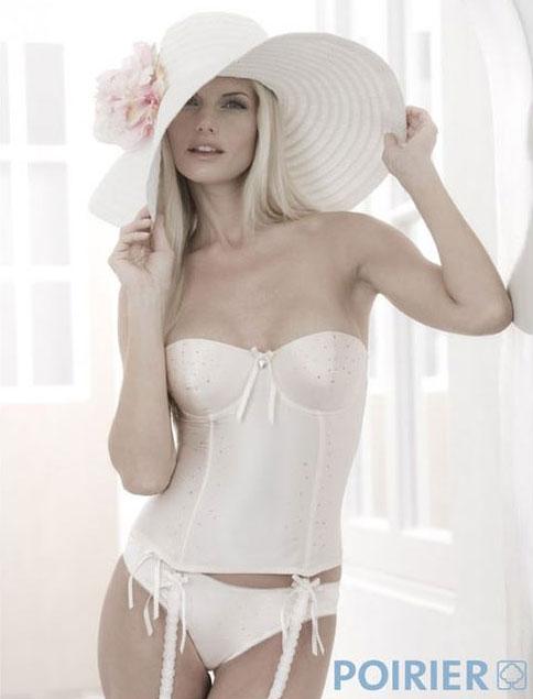 Bjem Silk Satin Bridal Basque - Ivory