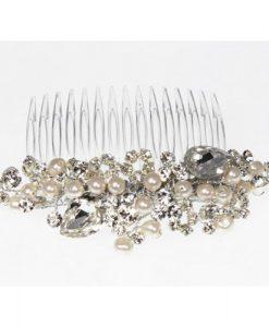 Swarovski Crystal and Pearl Wedding Hair Comb