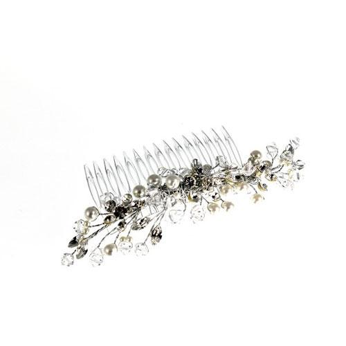 ellie K liviv crystal and pearl bridal comb