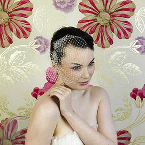 mini birdcage wedding veil