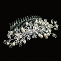 ellie K Livi pearl and crystal bridal comb