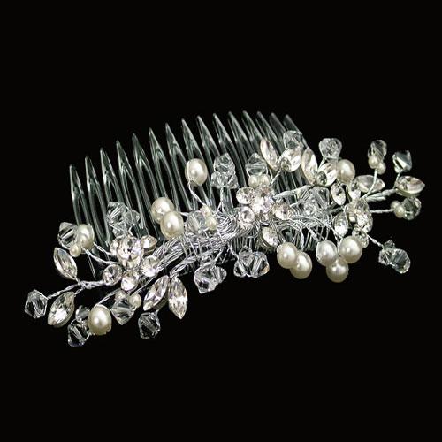 ellie K Livi pearl and crystal bridal comb