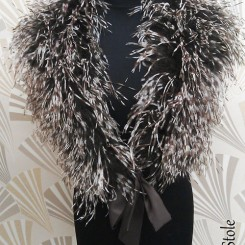 sasso-cascasablanca ostrich feather stole