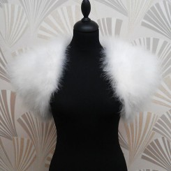 Sasso Minnelli Marabou Feather Shrug