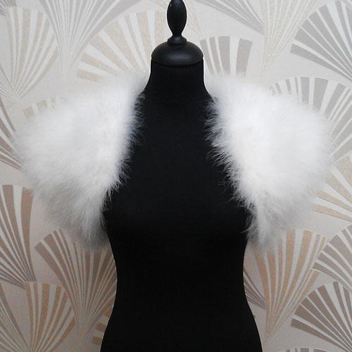 Sasso Minnelli Marabou Feather Shrug