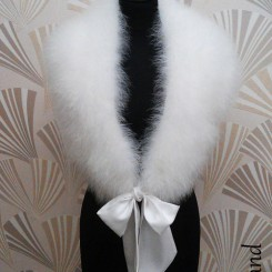 sasso streisand feather stole
