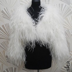 sasso alaska feather bridal jacket