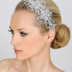 Liza Designs FH8240 Crystal Side Tiara