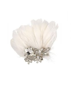 lily bella tiffany vintage feather clip