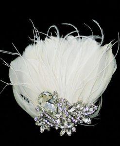 lily bella tiffany feather wedding clip