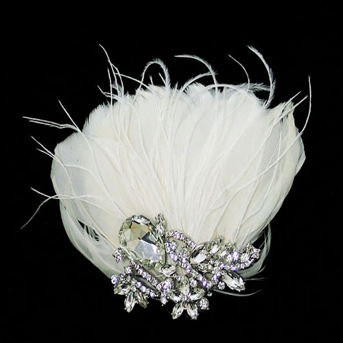 lily bella tiffany feather wedding clip