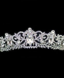 Vintage Crystal Tiara - Christina