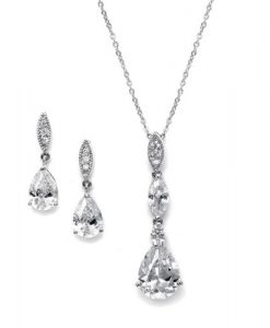 Cubic Zirconia Wedding Jewellery Set