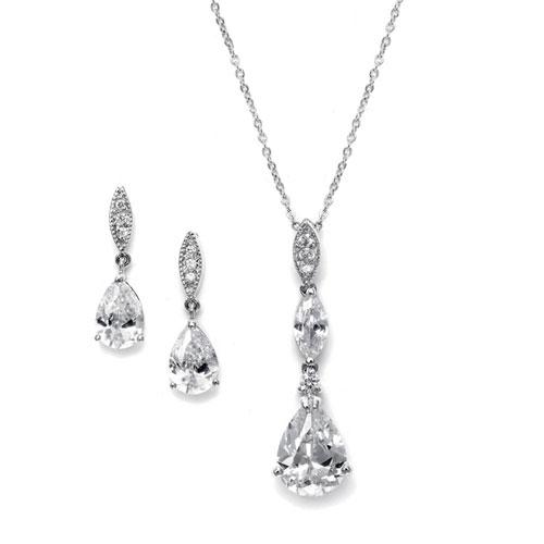 Cubic Zirconia Wedding Jewellery Set
