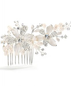 luisa flower bridal comb