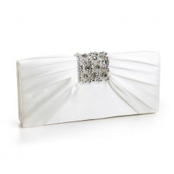 Jewelled Satin Wedding Bag - Lexi