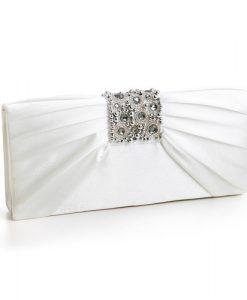 Jewelled Satin Wedding Bag - Lexi