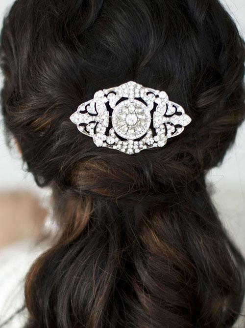 Art Deco wedding Comb