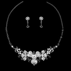 crystal wedding jewellery set natalia