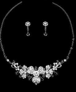 crystal wedding jewellery set natalia