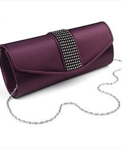 Purple Satin Evening Bag
