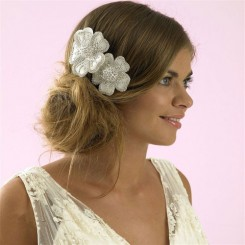 Charlotte Balbier CB33 Crystal Flower Comb