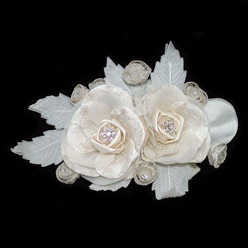 charlotte balbier cb07 champagne wedding hair flower