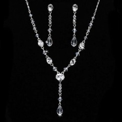 Crystal Drop Bridal Jewellery Set