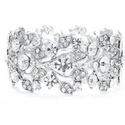 Crystal Sparkle Wedding Bracelet - Amelia