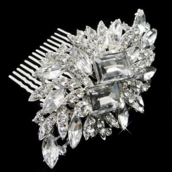 samia crystal wedding comb