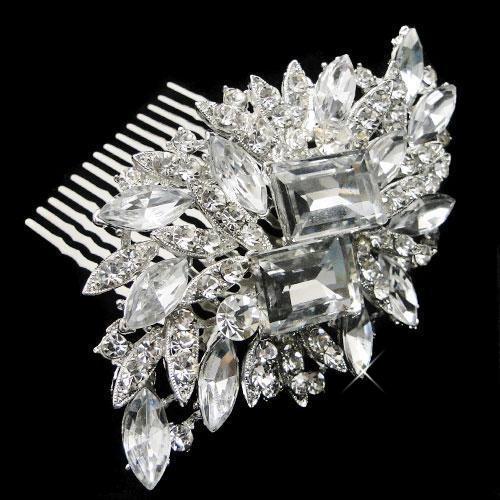 samia crystal wedding comb