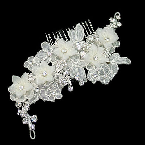 Bridal Hair Comb Wedding | wedding hair comb bridal head