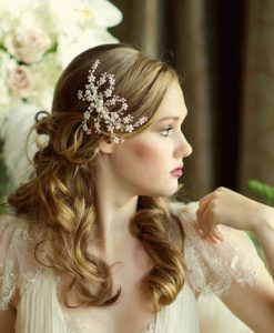 pearl wedding hair comb belinda