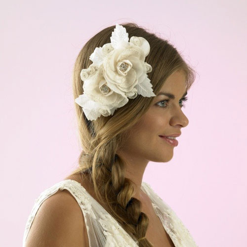charlotte balbier champagne wedding hair flower