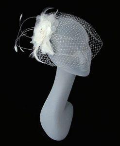 charlotte balbier cb37 birdcage veil wedding headpiece