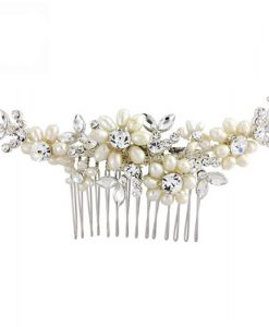 pearl and crystal bridal comb caitlin