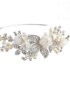 floral bridal side tiara clarissa