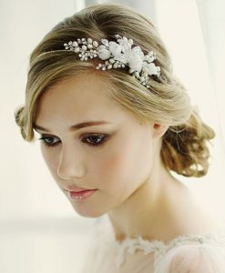Floral Bridal Side Tiara