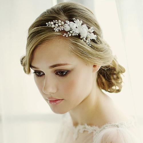 Floral Bridal Side Tiara