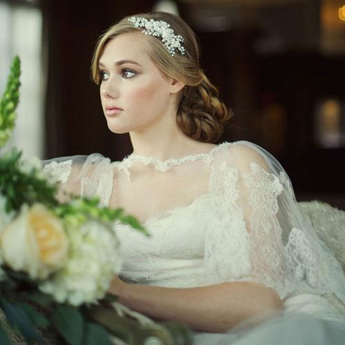 Floral Bridal Side Tiara - Clarissa - Zaphira Bridal 9adcc2b1544