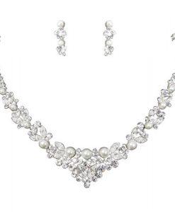 Crystal and Pearl Jewellery Set - Alexa
