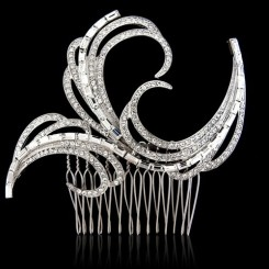 art deco crystal comb billie