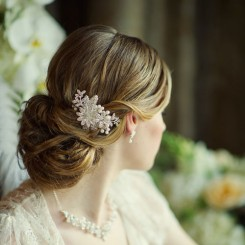 crystal wedding hair comb ellen