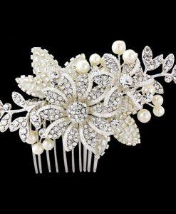 crystal wedding hair comb ellen