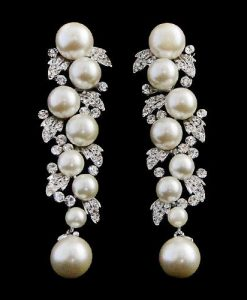 Pearl Starlet Wedding Earrings