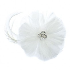 feather wedding hair accessory