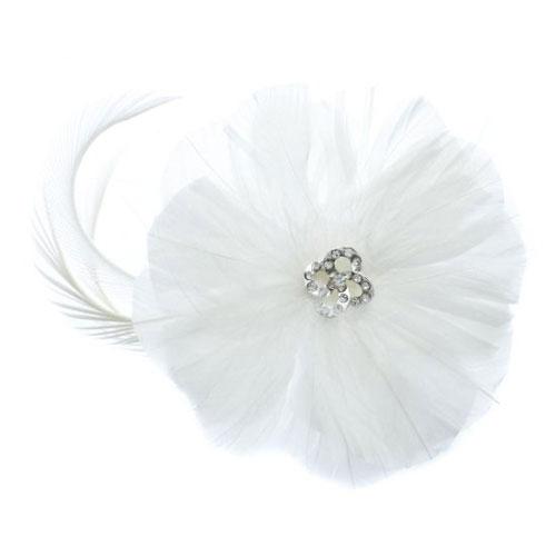 feather wedding hair accessory