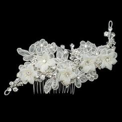 alencon lace flower comb
